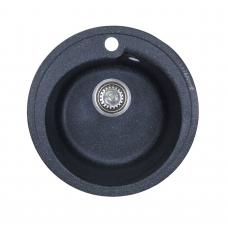 Мойка комп.Granfest Rondo GF-R450 Черный 308 круглая (GF-45)(d450)