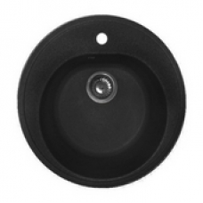 Мойка комп.Granfest Rondo GF-R510 Черный 308 круглая (F-08)(d510)