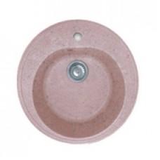 Мойка комп.Granfest Rondo GF-R510 Розовый 315 круглая (F-08)(d510)