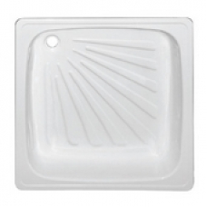 Поддон стальной эмалир. 0,9х0,9х0,16 белый (КНР)