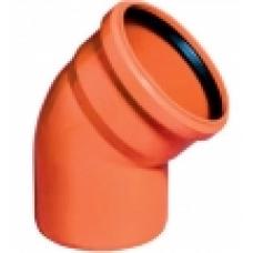 Канал.наруж отвод Ду 110х45 гр ПП (рыжий)