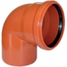 Канал.наруж отвод Ду 110х90 гр ПП (рыжий)