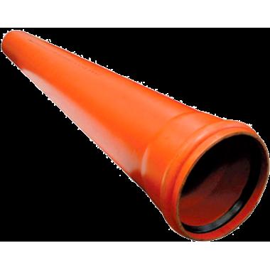 Канал.наруж труба Ду 110х3,2х560 ПП (рыжая)