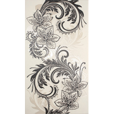 Азур Крем белый  25*45 1645-0046 Декор НЗ