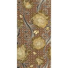 Мирабель коричневый 100311126  25х50 Декор