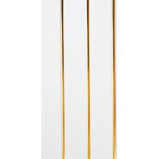 Панель ПВХ 0,240*3,0 Софитто 3 полосы золото белый лак