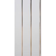 Панель ПВХ 0,240*3,0 Софитто 3 полосы серебро белый лак
