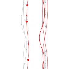 Панель ПВХ 0,250*2,7м N263 Жемчужные нити красные