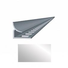 Профиль для керамической плитки 7 внутр. металлик НЗ