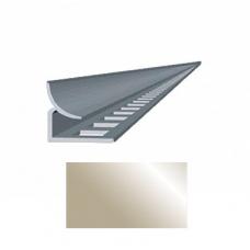 Профиль для керамической плитки 7 внутр. металлик золотистый НЗ