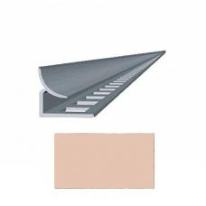 Профиль для керамической плитки 7 внутр. персиковый