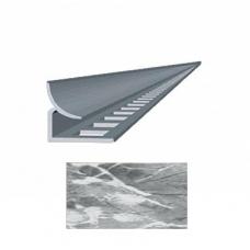 Профиль для керамической плитки 9 внутр. мрамор белый