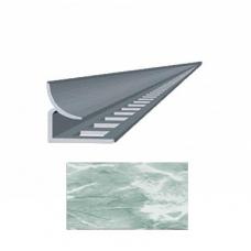 Профиль для керамической плитки 9 внутр. мрамор лазурный