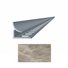 Профиль для керамической плитки 9 внутр. мрамор светло-бежевый