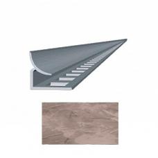 Профиль для керамической плитки 9 внутр. мрамор розовый