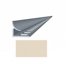 Профиль для керамической плитки 9 внутр. слоновая кость