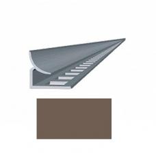 Профиль для каф. плитки 9 внутр. шоколадный