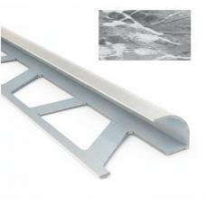 Профиль для керамической плитки 9 наруж. мрамор белый