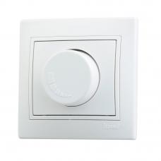 Диммер 1000 Вт белый с бел. вст.  701-0202-157   НЗ