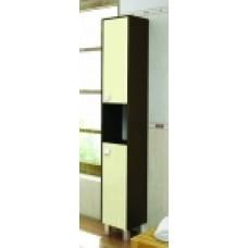 "Шкаф-колонна ""Оливия"" 28 см цв.венге/ваниль (Россия) 22542 Меркана"