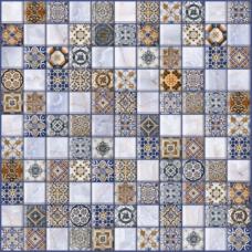 Орнелла синий 5032-0200  30х30 (арт-мозаика)Напольная плитка