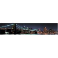Интерьерная панель Город3 Бруклинский мост 3000*600*1,5мм ABS НЗ