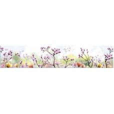 Интерьерная панель Цветы4 Сакура 3000*600*1,5мм ABS