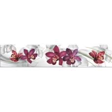 Интерьерная панель Цветы8 Орхидеи 3000*600*1,5мм ABS