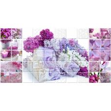 Арома (Сирень) лиловый (693-1) 25х50 Декор