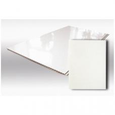 Панель ПВХ 0,375*3,0 м Белый глянец