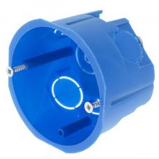 Коробка устан-я(подрозетник) БЕТОН d68*h45mm саморезы синяя ТДМ