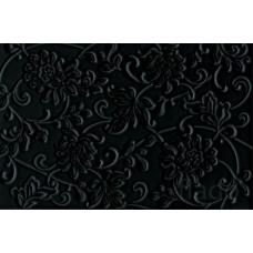 Аджанта цветы 20*30 черный Настенная плитка 8217