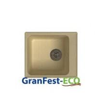 Мойка комп.Granfest ECO 17(GF-Z17) 420х480 Бежевый (б/сифона)
