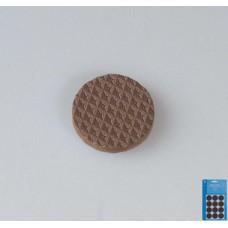 135154 Защитные наклейки д/мебели, круглые, цвет-коричневый