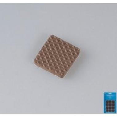 135155 Защитные наклейки д/мебели, квадратные, цвет-коричневый
