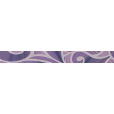 Arabeski purple пурпурный 01 60х6,5 Бордюр