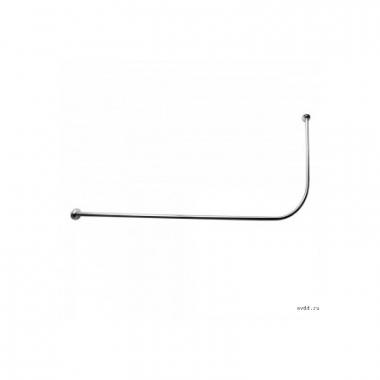 Карниз Г-образный для шторки в ванную хром/нерж. 150*75
