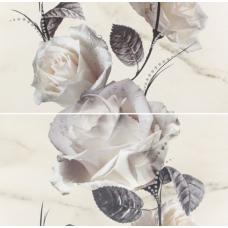 Carrara  (O-CRR-WPG052/F) Белый Цветок - 583x593 мм Панно