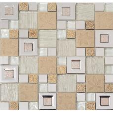 Мозаика камень+стекло PM410MXA Primacolore 23x23+48x48/300x300