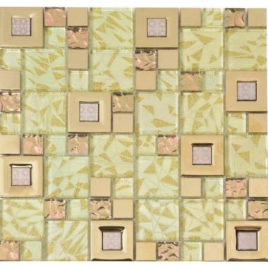 Мозаика металл+стекло MC220MLA Primacolore 23x23+48x48/300x300
