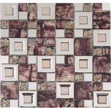 Мозаика металл+стекло MC221MLA Primacolore 23x23+48x48/300x300