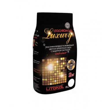 LITOKOL - LITOCHROM 1-6 LUXURY С.50 светло-бежевая затирочная смесь (2 кг)