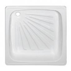Поддон стальной эмалир. 0,7х0,7х0,15 белый (КНР)