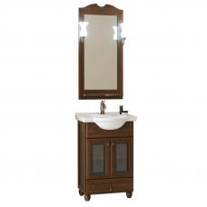 Комплект ТИБЕТ умывальник Капри 55 с тумбой Тибет, зеркало+ 2светильника