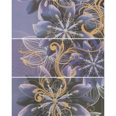 Gracia violet panno 01 600х750 мм (комплект из 3 шт) Панно