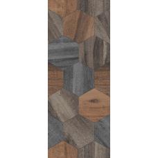 Миф 1 микс коричневый (коричневые соты) 20х50 Настенная плитка