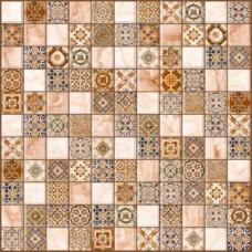 Орнелла коричневый 30х30 (5032-0199) (арт-мозаика)Напольная плитка