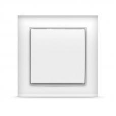 Выключатель Universal 7366 1 клавишный Бриллиант белый