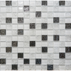 Mosaic Glass White (Bella)DW7MGW00 300х300 Декор
