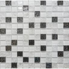 Mosaic Glass White (Bella)DW7MGW00 300х300 Декор
